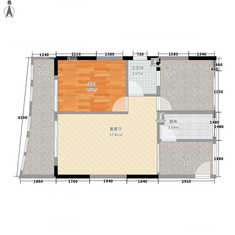 ㎡半岛花园户型图户型071室1厅1卫户型1室1厅1卫  海南 琼海 半岛花园