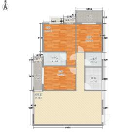 柒星景123.56㎡柒星景户型图3室2厅2卫1厨户型10室