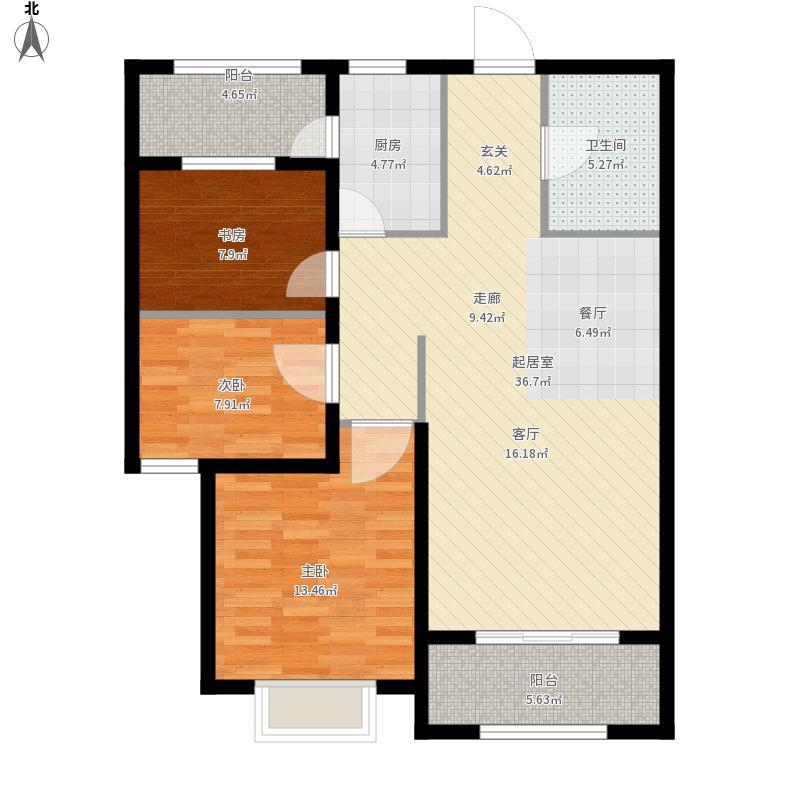 青岛-万达海公馆98平