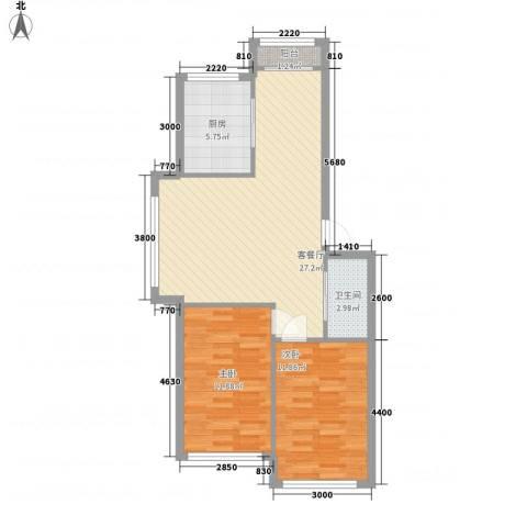 清潭南苑h2户型2室2厅1卫1厨