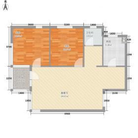 台安27696.56㎡户型2室2厅1卫1厨