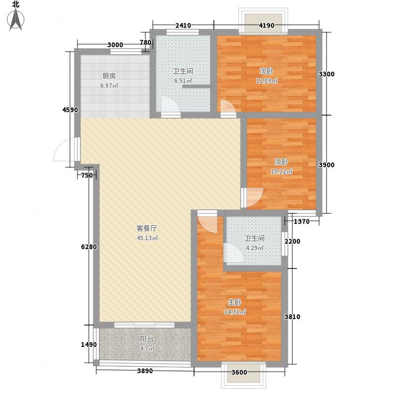 00㎡中成1号花园户型图132平户型3室2厅2卫1厨户型3室2厅2卫1厨 户型