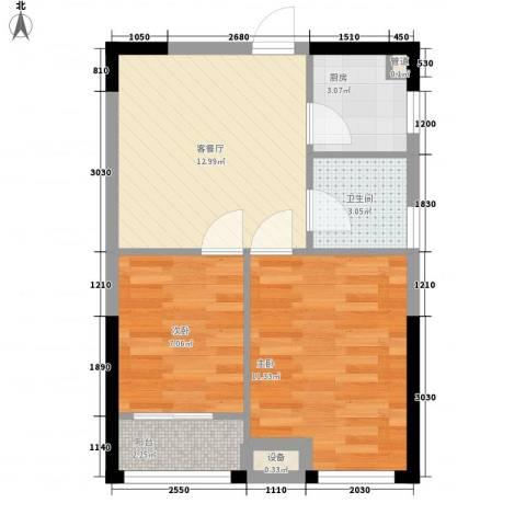 优活华庭61.00㎡B3户型2室1厅1卫1厨