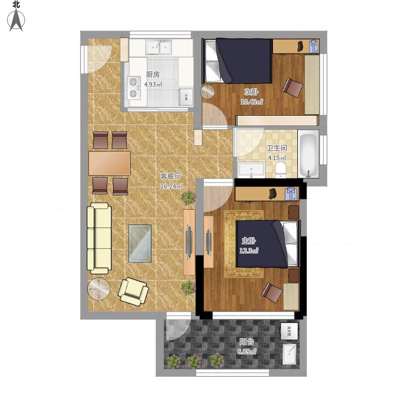 信义嘉御山13栋09装修设计方案1-邱志勇设计免费量房设计图片