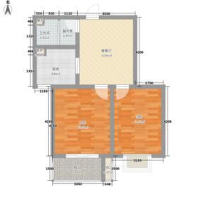 天鸿国际74.61㎡2期11#S户型2室1厅1卫1厨