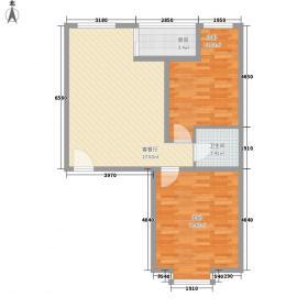 滨河城・左岸89.71㎡滨河城・左岸户型图3户型2室2厅1卫户型2室2厅1卫