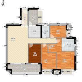 富力天禧花园126.00㎡富力天禧花园户型图A1栋01户型图4室2厅2卫1厨户型4室2厅2卫1厨