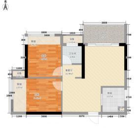 发改委宿舍户型2室2厅1卫1厨