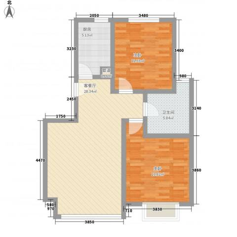 麦迪逊广场4.00㎡C户型2室1厅1卫