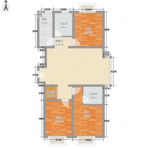 麦迪逊广场12.81㎡户型3室2厅2卫