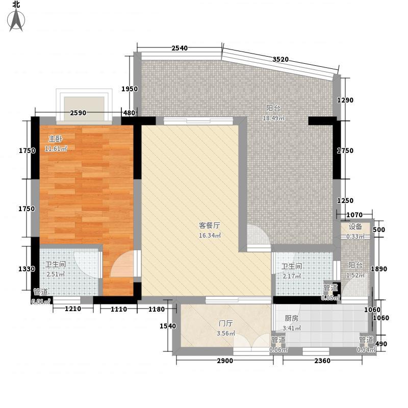 ㎡半岛花园户型图05户型1室1厅2卫户型1室1厅2卫  海南 琼海 半岛花园