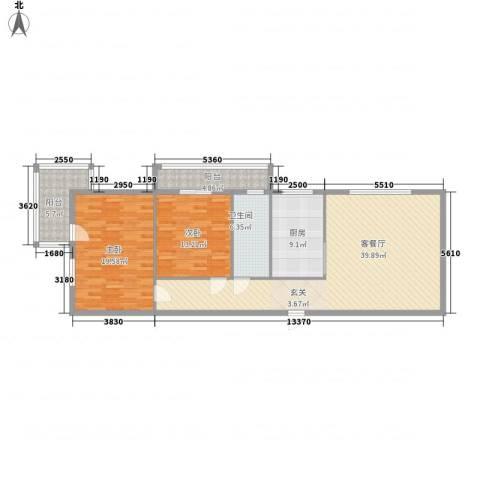 东维大厦138.00㎡D户型2室1厅1卫1厨
