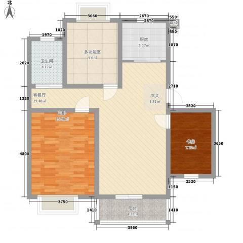 御都花园11.80㎡户型3室2厅1卫1厨