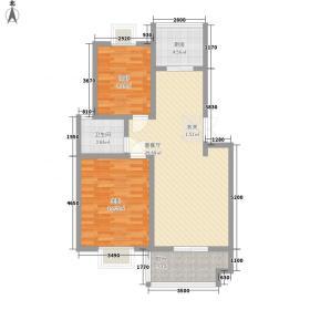 永嘉太阳城H()户型2室2厅1卫1厨