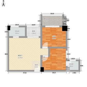 中融商务公馆74.61㎡中融商务公馆户型图2室2厅2卫1厨户型10室