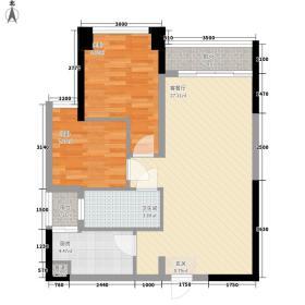 鸿翠苑74.61㎡鸿翠苑户型图B栋奇数层04、05单元2室2厅1卫户型2室2厅1卫