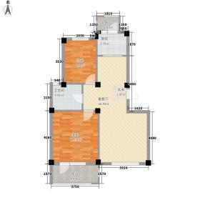汤泉香格里90.00㎡汤泉香格里户型图2室2厅1卫1厨户型10室