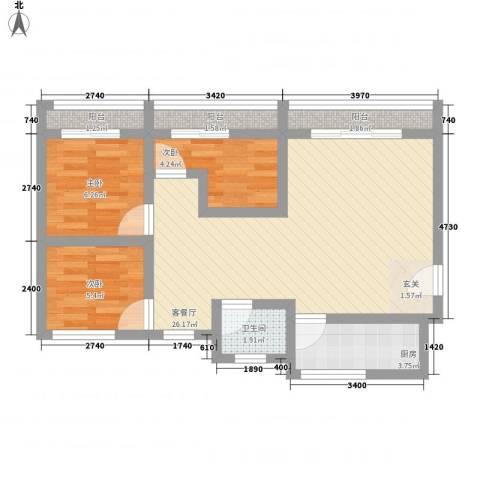 将军山住宅8.00㎡户型3室