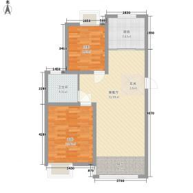 新城丽景88.00㎡新城丽景2室户型2室