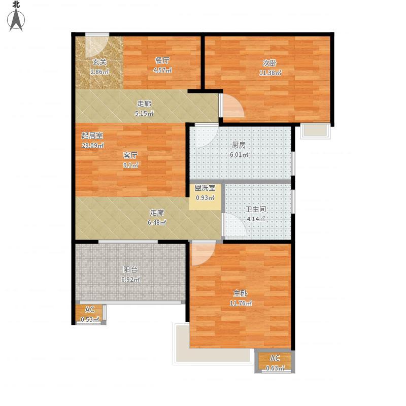 西安-融尚99中央住区-设计方案户型图大全,装修户型