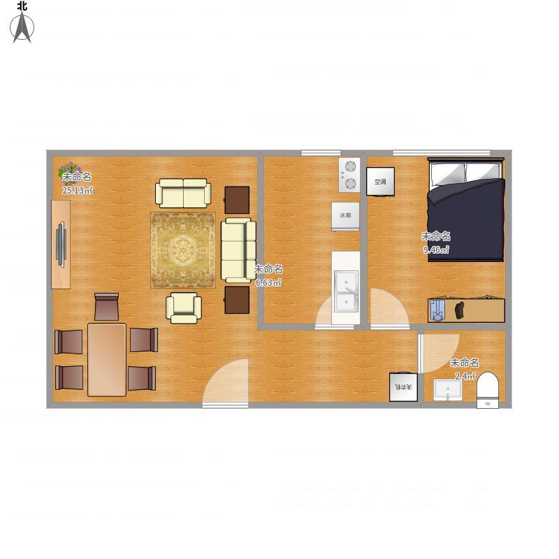 天津 一室一厅一厨一卫 户型图图片