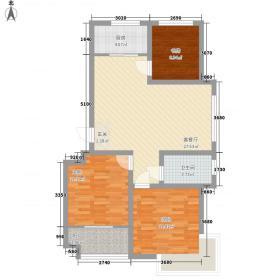 华安世纪樱园四期多层35#楼C1户型3室2厅1卫1厨