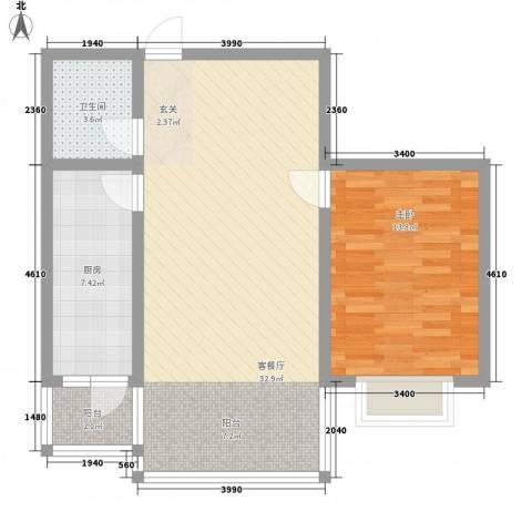 盛德世纪家园二期高层1#2#号楼标准层E户型