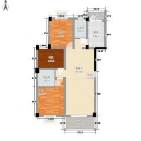 华凌尚城116.42㎡C户型3室2厅2卫1厨