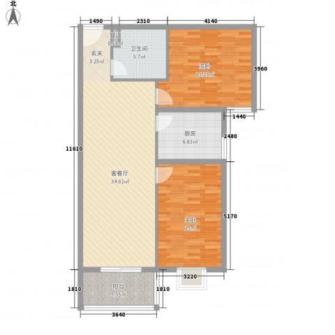润泽苑115.00㎡户型3室2厅1卫1厨