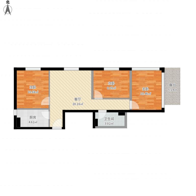 北京 德隆家园-原始 户型图