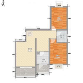 华业苑85.00㎡户型2室