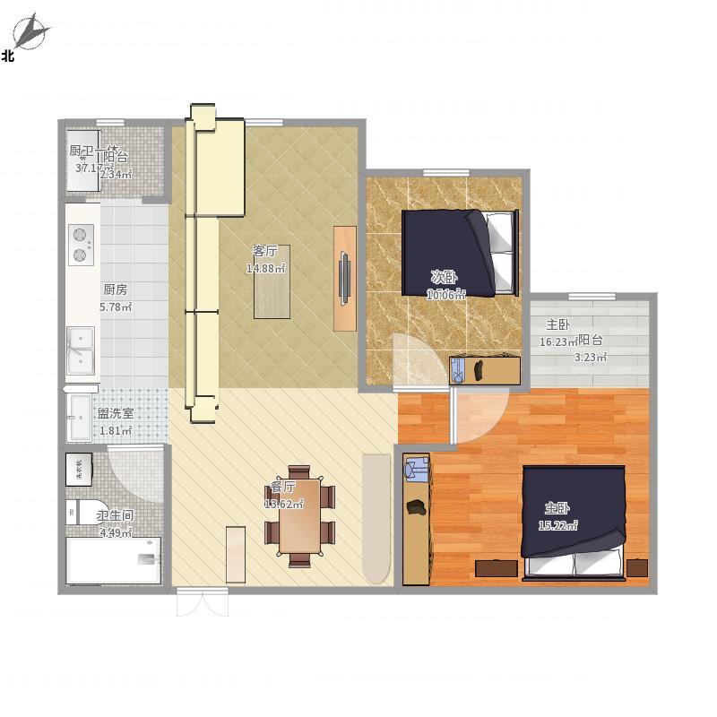 招商诺丁山-g11设计方案-开放式厨房