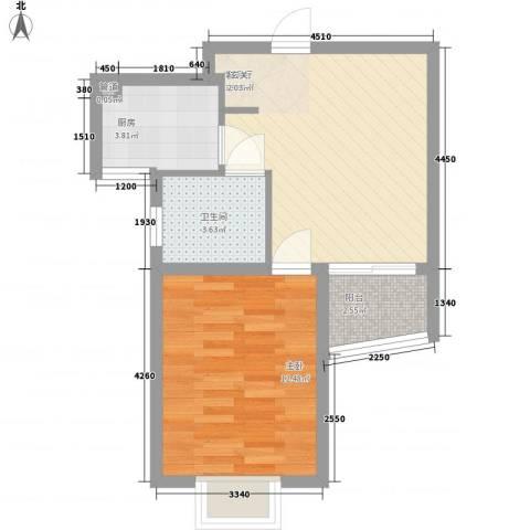 泰晤士小镇公寓55.00㎡户型1室