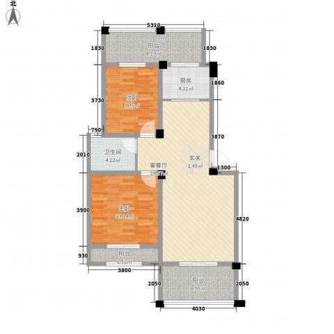 联丰西塔楼173户型2室2厅1卫1厨