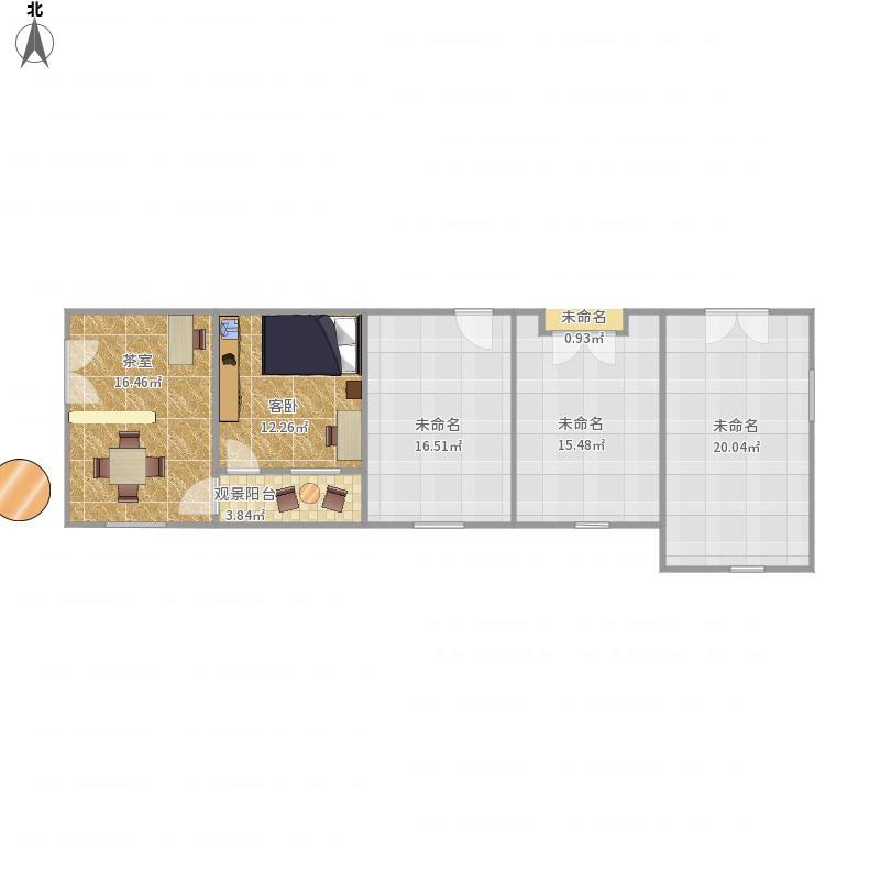 户型设计 田铺老家房屋户型平面图二  河南 信阳 未知小区 建筑面积