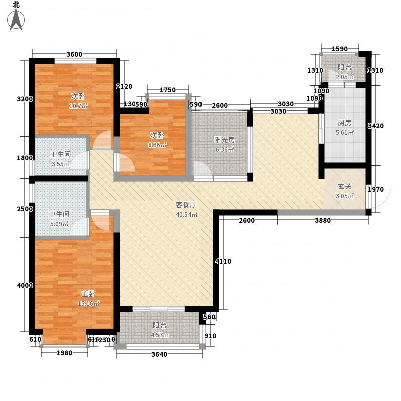 00㎡小区户型3室  陕西 西安 八一 套内面积:101.