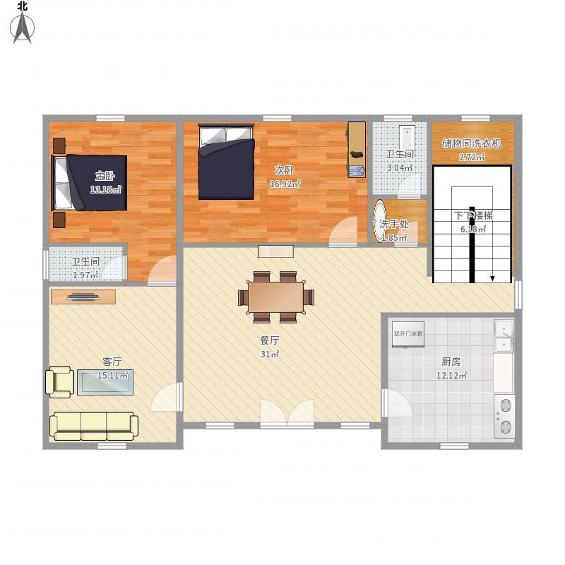 郴州-友好村赵建房设计第1型一层-2号设计方案景观设计的设计过程和设计要素图片