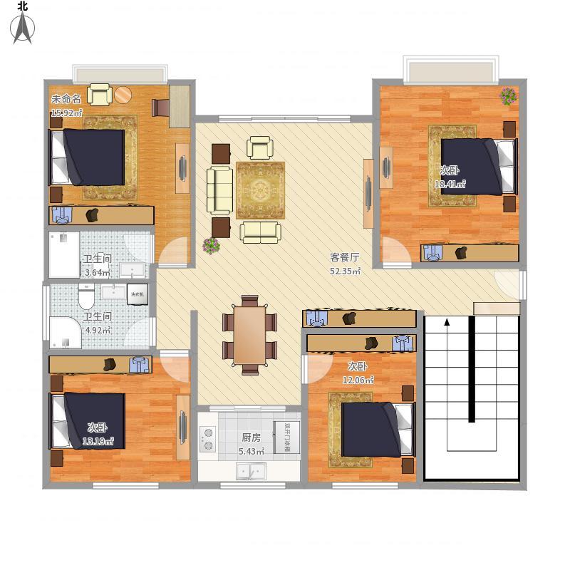 农村房屋1层平面图