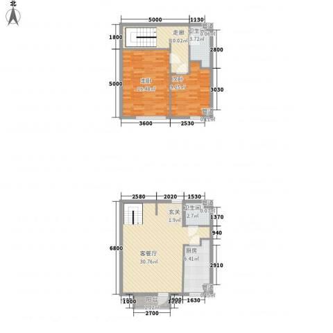 观筑庭园公寓110.00㎡观筑庭园公寓110.00㎡2室户型2室-副本