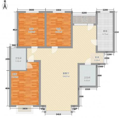 亿峰岛璞园166.00㎡亿峰岛璞园户型图D户型3室2厅2卫1厨户型3室2厅2卫1厨-副本