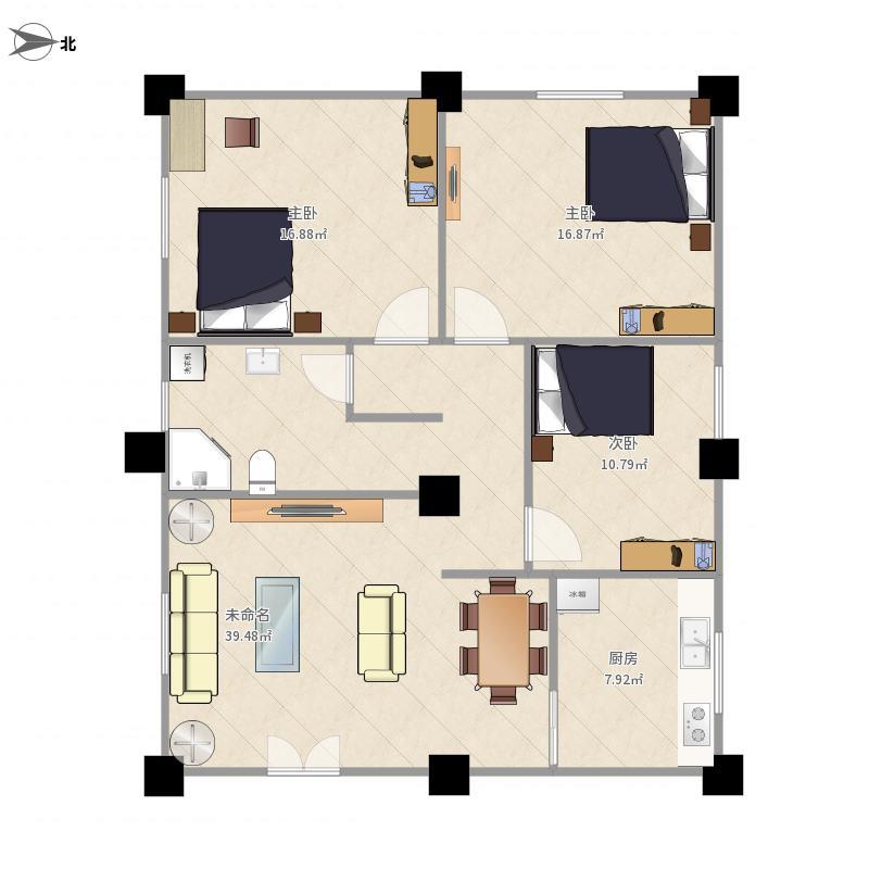 11米x11米户型图设计
