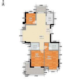 金域蓝湾120.60㎡金域蓝湾户型图D13室2厅2卫1厨户型3室2厅2卫1厨