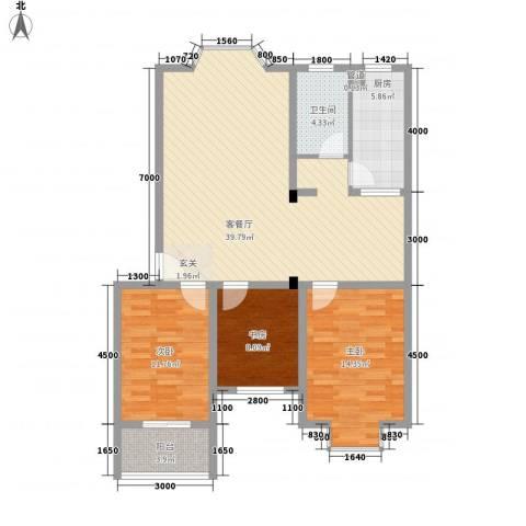 梧桐花园二期117.50㎡-4户型3室2厅1卫