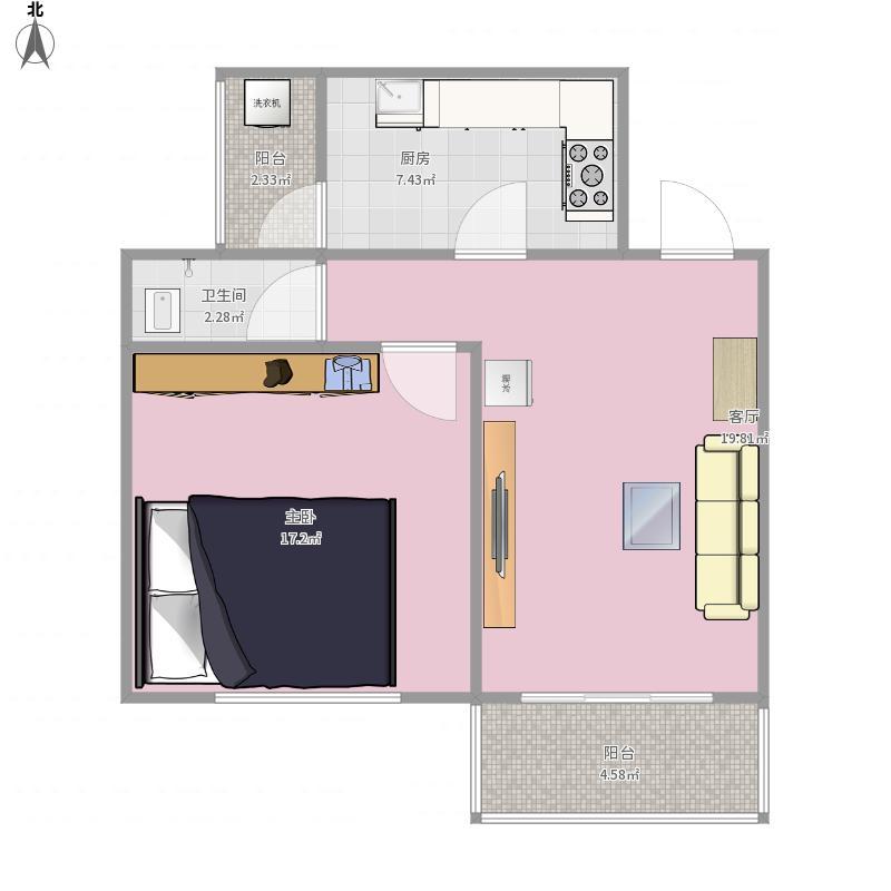 龙华北路一室一厅户型图大全,装修户型图,户型图分析图片
