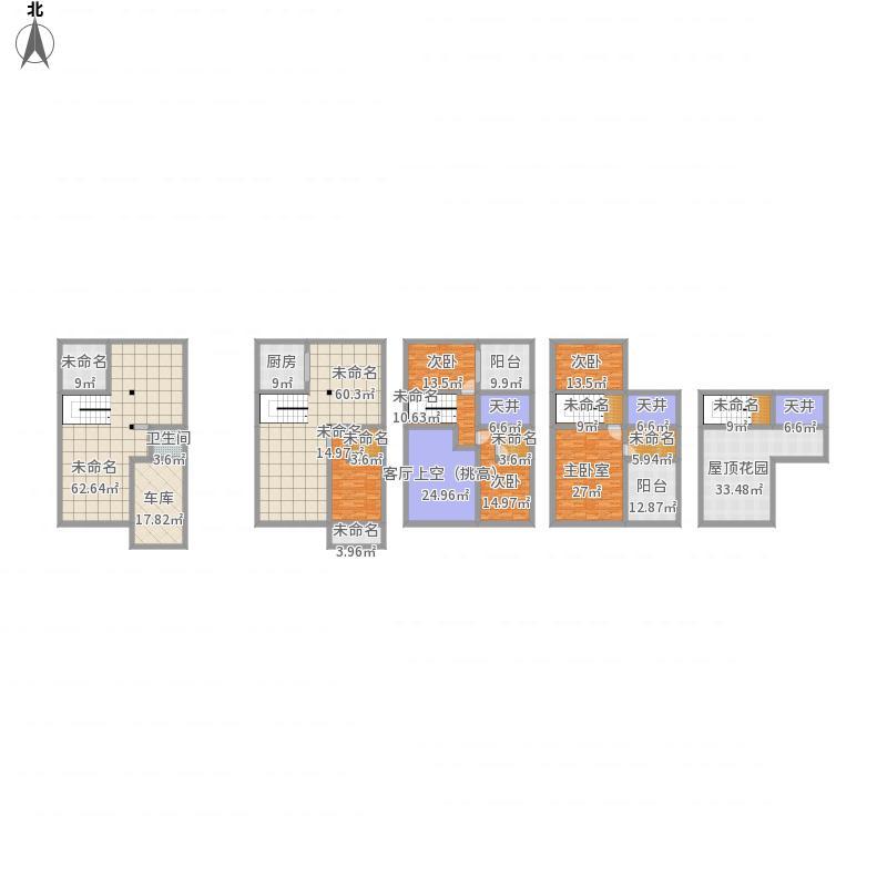 北方联排平房设计图图片