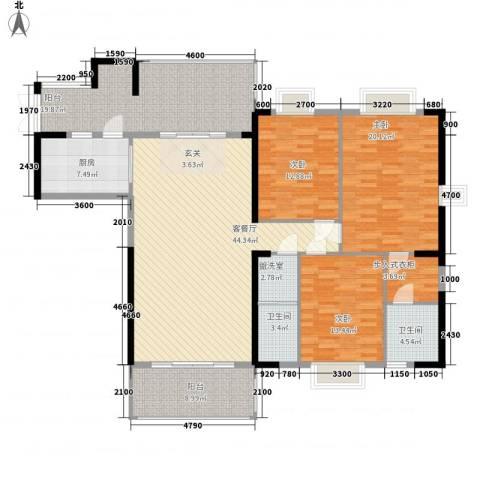 骏景豪庭161.25㎡1―3号楼B户型3室2厅2卫-副本