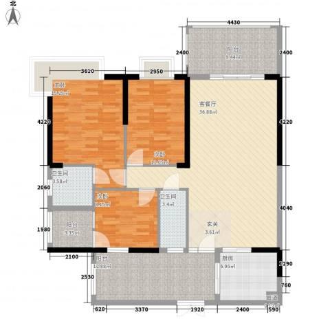 骏景豪庭155.72㎡1―3号楼A户型3室2厅2卫-副本