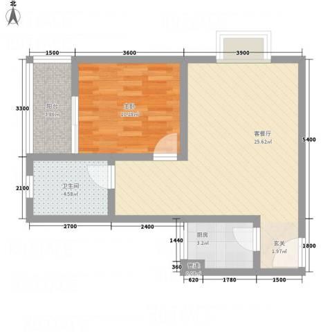 隆盛馨领域6.52㎡A户型1室2厅1卫1厨
