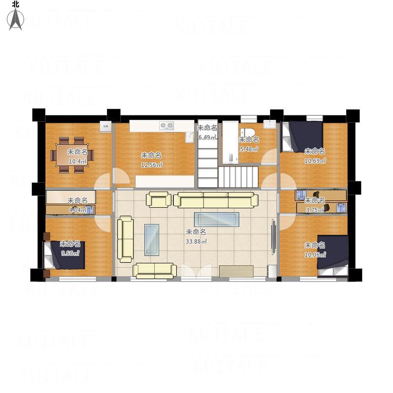 农村五间平房室内设计图图片