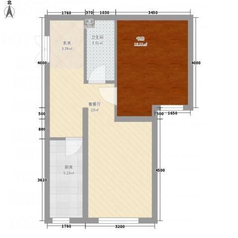 金源财富广场62.00㎡四号楼首层O户型1室2厅1卫